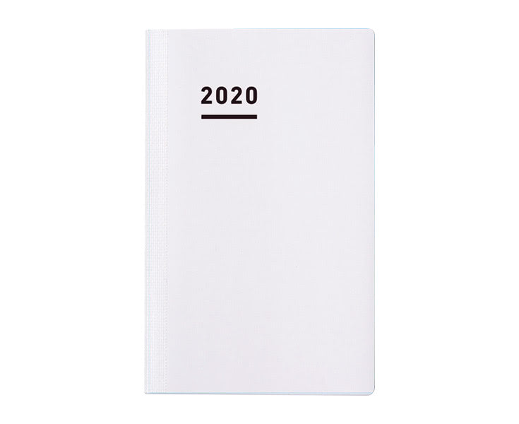 Kokuyo Jibun Techo 2020 Log Your Life Mini Diary- White (No Cover) B6 Slim