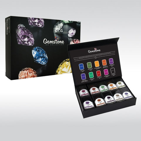 Monteverde Gemstones Ink Collection 10 Piece Gift Set