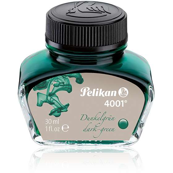 Pelikan 4001 Dunkelgrün/Dark Green Ink