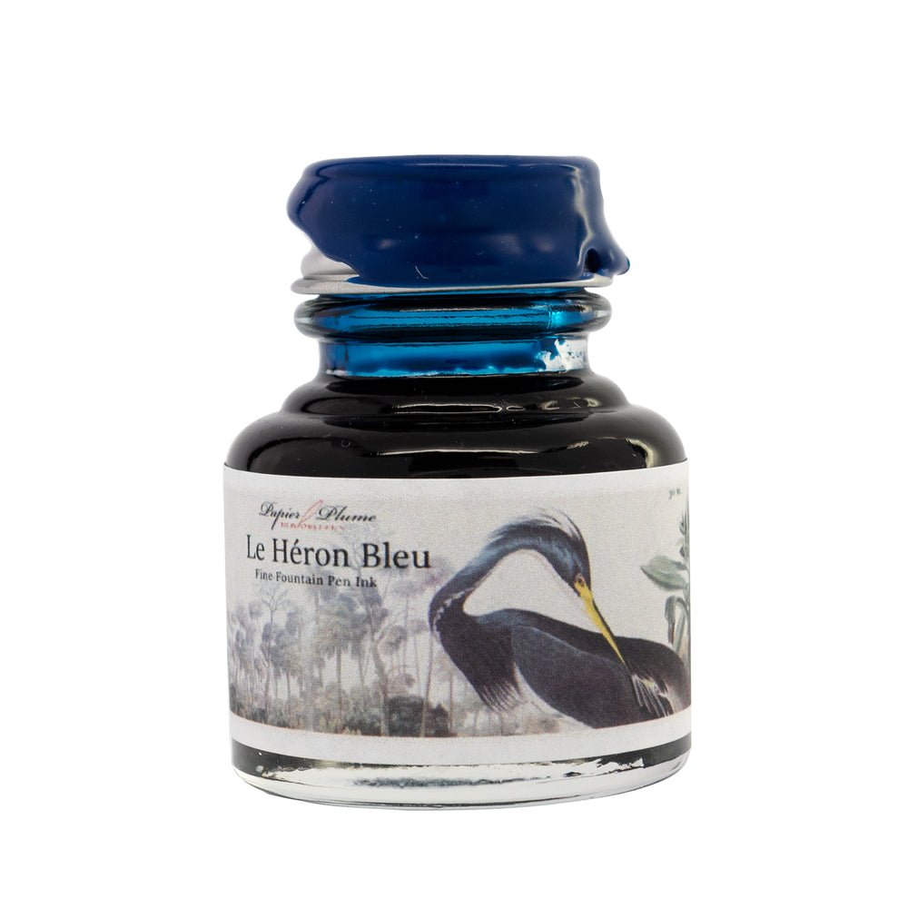 Papier Plume 2020 Limited Edition Fountain Pen Ink - Le Heron Bleu
