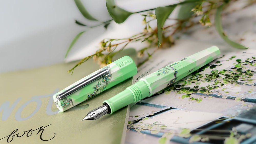 BENU Euphoria Collection Spring Leaf Limited Edition Fountain Pen