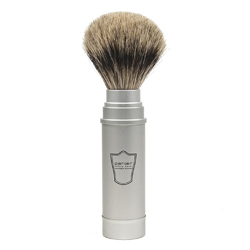 Parker Shaving Travel Pure Badger Brush