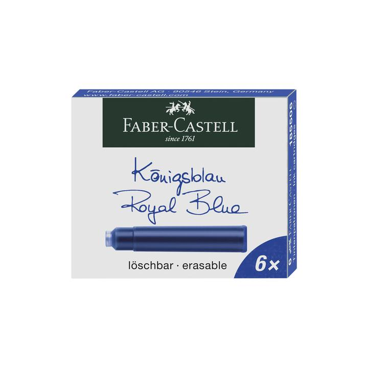 Faber-Castell Royal Blue Cartridges 6 Pack