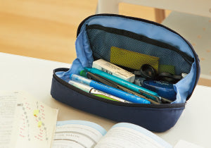 Kokuyo Shellbro Pen Case- Navy x Blue