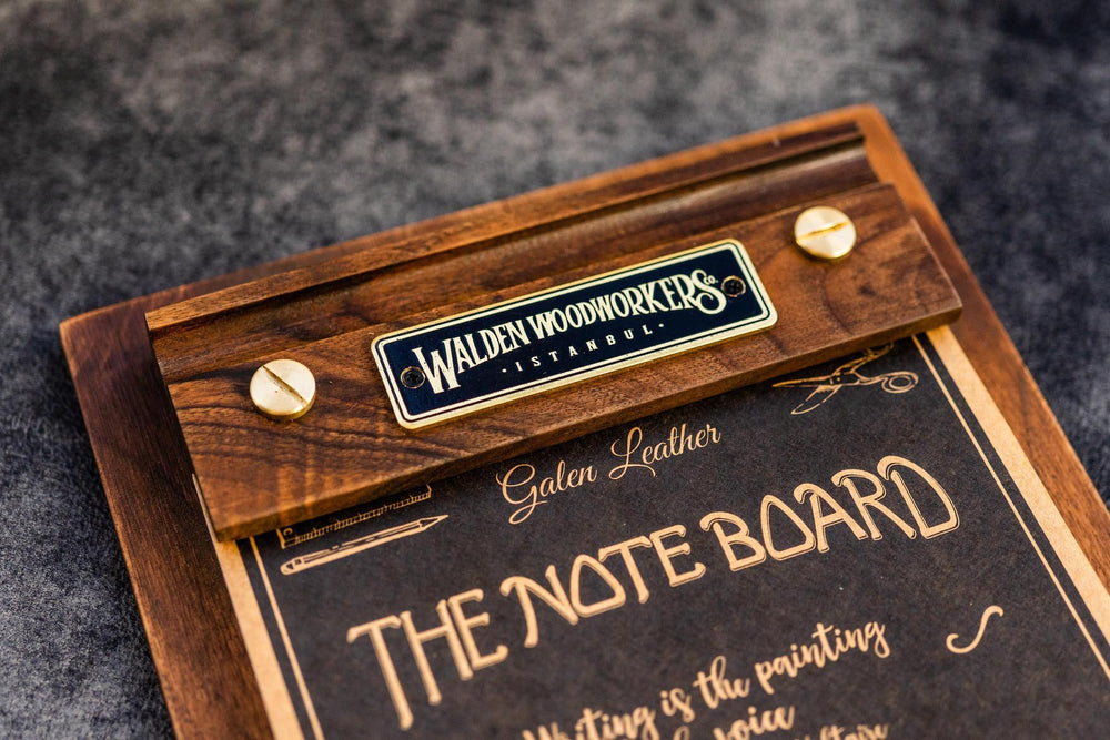 Galen Leather Co. The Note Board- Wooden Rhodia Notepad Holder- Mahogany