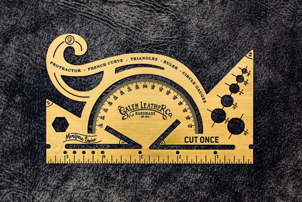 Galen Leather Co. Brass Combine Tool- Protractor