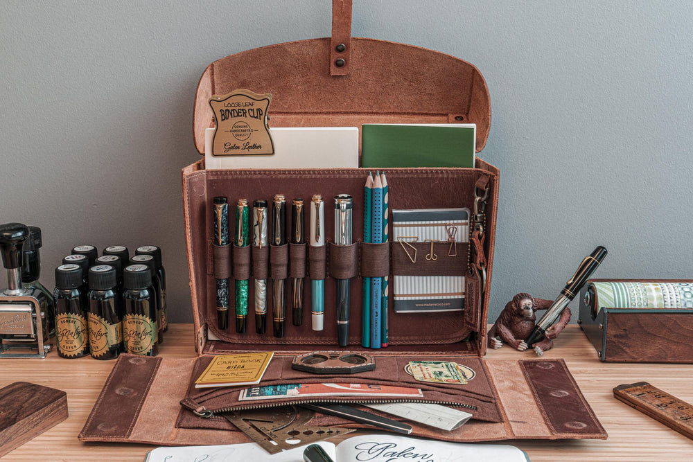 Galen Leather Co. Writer's Medic Bag- Crazy Horse Brown