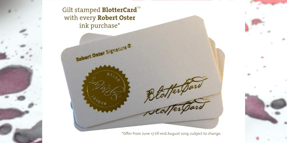 Robert Oster Blotter Card available with Purchase