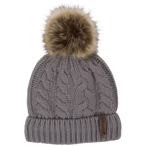 Catago Knitted Faux Fur Pom Pom Beanie