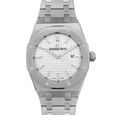 Lady Royal Oak 67650 White Dial in Steel
