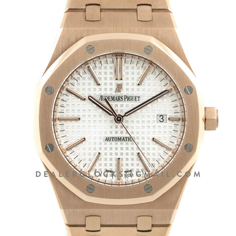 Royal Oak 15400 Rose Gold White Dial