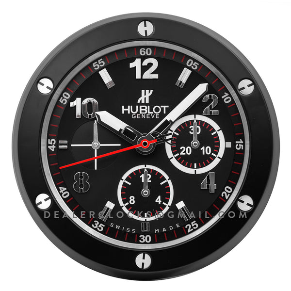 Hublot Wall Clock Big Bang Series Black Chronograph Dial