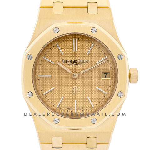 Royal Oak 15202 18K Yellow Gold Yellow Gold Dial on Bracelet