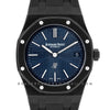Royal Oak 15202 DLC Black Blue Dial on Black Rubber Strap