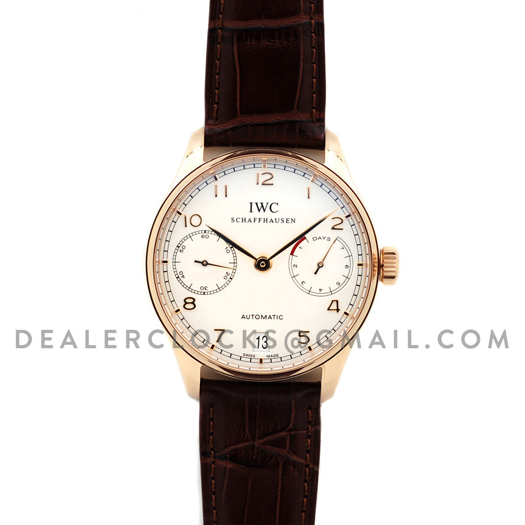 Portuguese Automatic 7 Day IW500701 Rose Gold