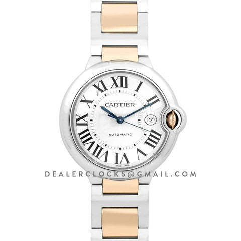 Ballon Bleu de Cartier 42mm White Dial in Steel and Gold