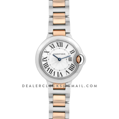 Ballon Bleu de Cartier 33mm White Dial in Steel and Gold