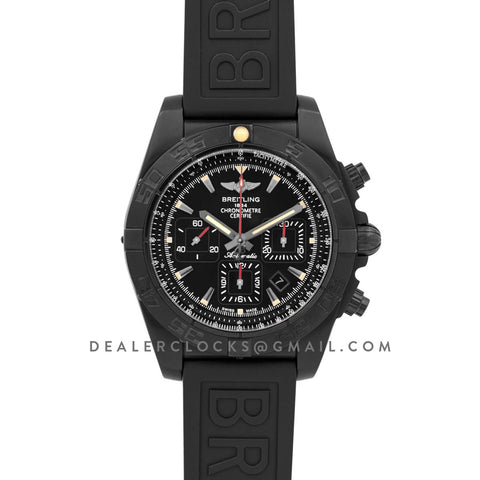 Breitling Chronomat 44 Blacksteel Chronograph Black Dial in PVD