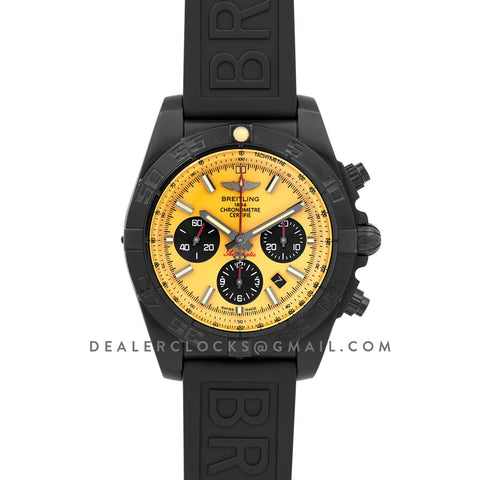 Breitling Chronomat 44 Blacksteel Chronograph Yellow Dial in PVD