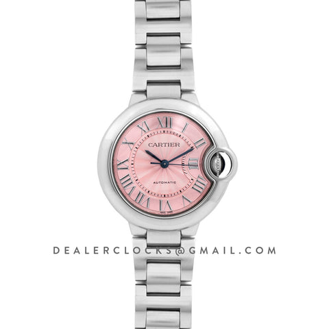 Ballon Bleu De Cartier 36mm Pink Dial in Steel