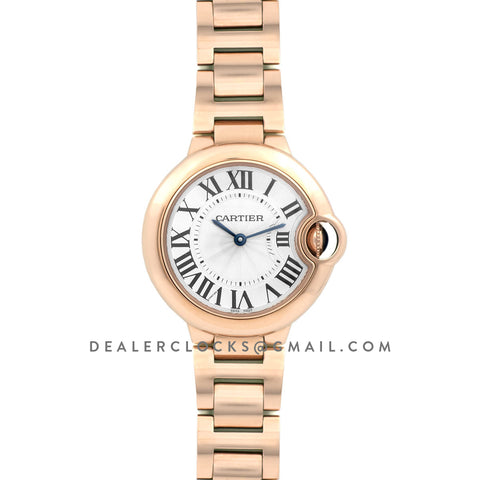Ballon Bleu de Cartier 33mm White Dial in Rose Gold