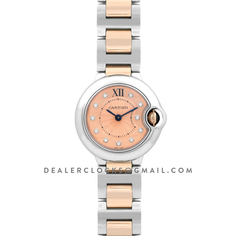 Ballon Bleu de Cartier 28mm Rose Gold Dial in Steel and Gold