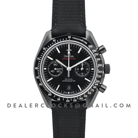 Speedmaster Moonwatch Co-Axial Chronograph 'Dark Side of The Moon' with White Tachymeter