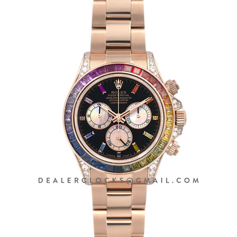 Daytona Baselworld 2018 116595RBOW in Rose Gold