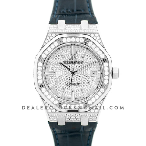 Royal Oak 15452BC White Gold Pave Diamonds