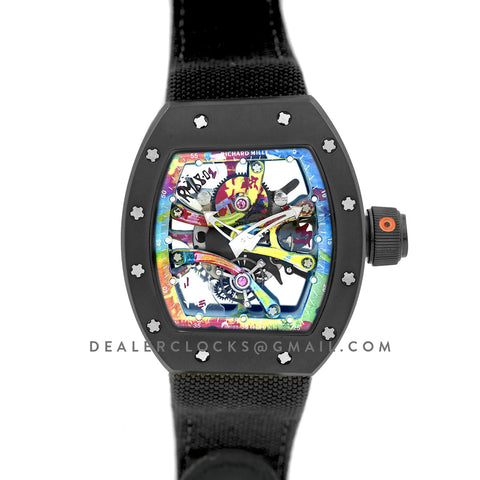 RM 068-01 Tourbillon Cyril Kongo on Black Nylon Strap