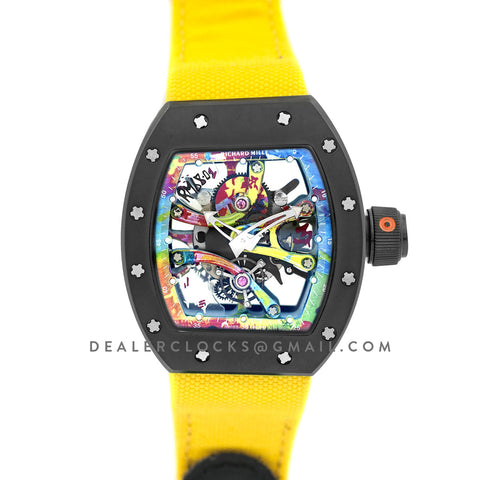 RM 068-01 Tourbillon Cyril Kongo on Yellow Nylon Strap