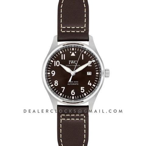 Pilot's Watch Mark XVIII (Antoine De Saint Exupery) IW327003 Brown Dial on Steel Bracelet