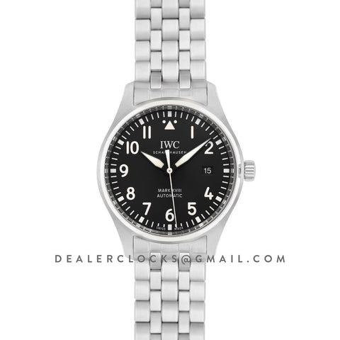 Pilot's Watch Mark XVIII IW327015 Black Dial on Steel Bracelet