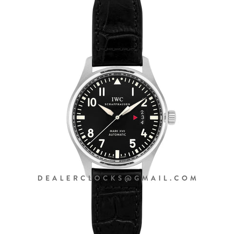 Mark XVII Black Dial on Steel IW326501