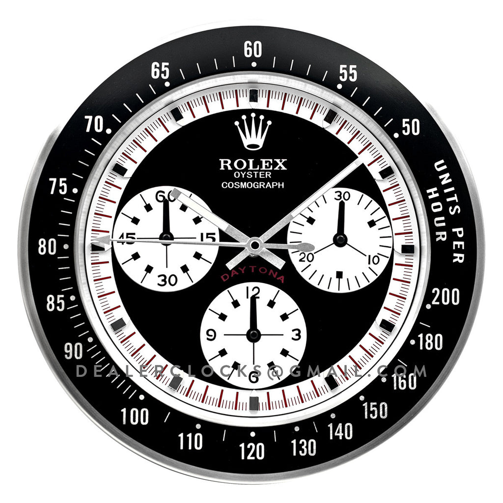 Rolex daytona paul newman wall clock series dealer clocks daytona paul newman series amipublicfo Image collections