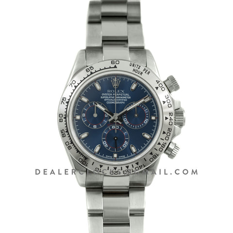 Daytona 116520 Blue Dial in White Gold