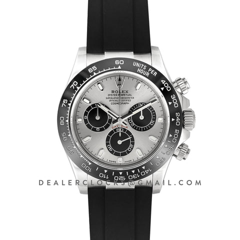 Daytona 116519LN Steel and Black Dial in White Gold