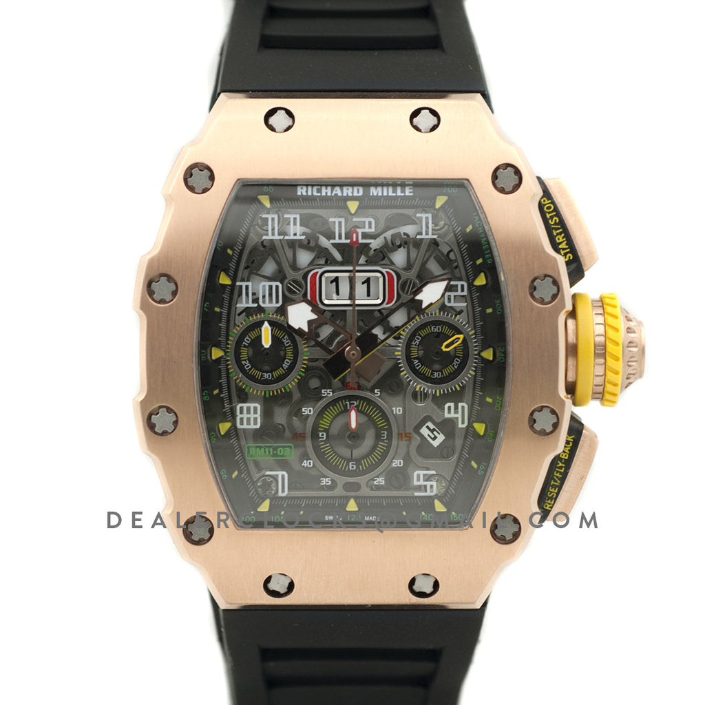 RM 011-03 Automatic Flyback Chronograph in Rose Gold