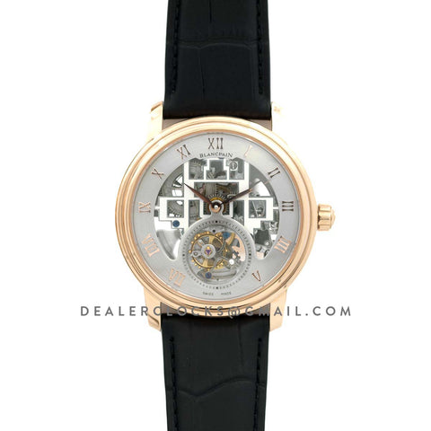 Fantasy Tourbillon Grey Dial in Rose Gold on Black Leather Strap