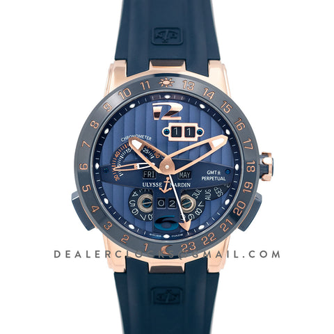 Executive EL Toro Blue Dial in Rose Gold