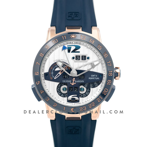Executive EL Toro White Dial in Rose Gold
