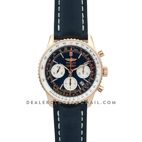 Navitimer 01 Chronograph Blue Dial in Rose Gold
