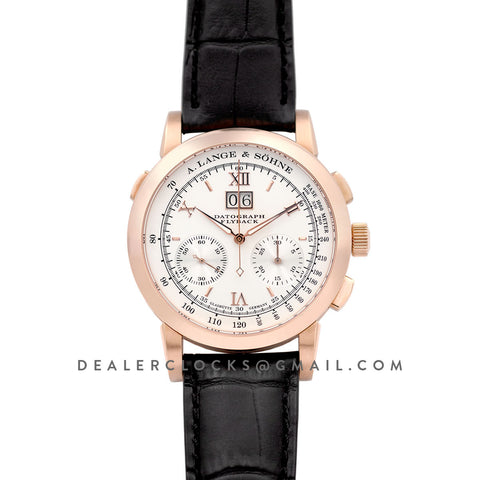 Datograph Chronograph Flyback White Dial in Rose Gold