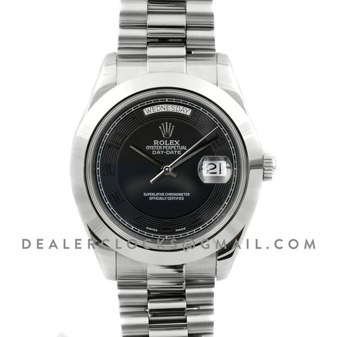 Day-Date II 218206 President Platinum Black Dial