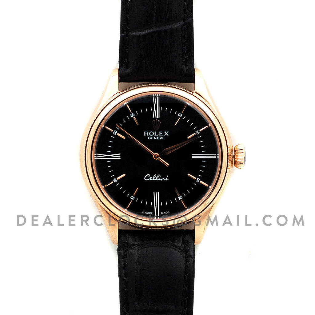 Cellini Time in Everest Gold 50505 (Black Dial)