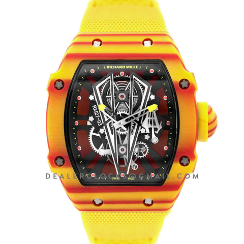 RM 027-03 Tourbillon Rafael Nadal on Yellow Elastic Band