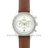 Speedmaster '57 Co-Axial White/Gold Dial on Brown Leather Strap