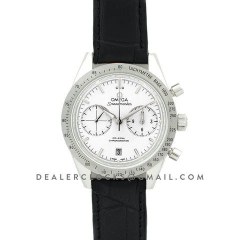 Speedmaster '57 Co-Axial White/Silver Dial on Black Leather Strap