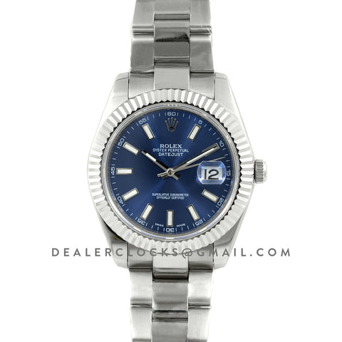 Datejust II 126334 Blue Dial Stick Markers