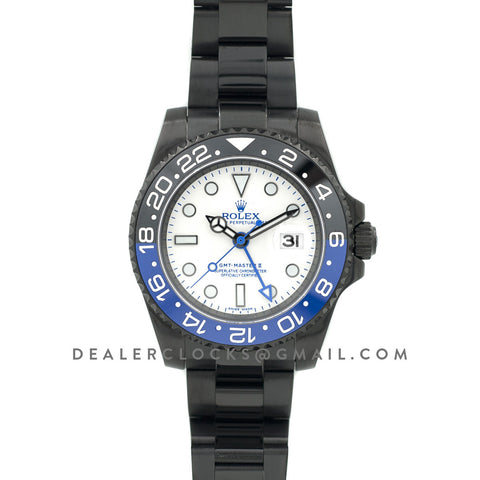 GMT Master II 116710 BLNR White Dial in PVD Black